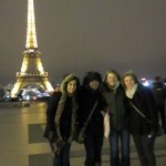 With friends in front of the Eiffel Tower!