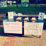Tabling at The Wall on a lovely fall day.