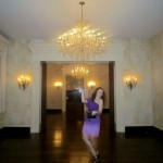 Carly, the chandelier model.