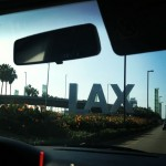 The sign for LAX airport.  See you soon, California!
