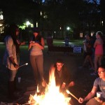 Toasty 'smores on the Commons Lawn, courtesy of Project RISHI!