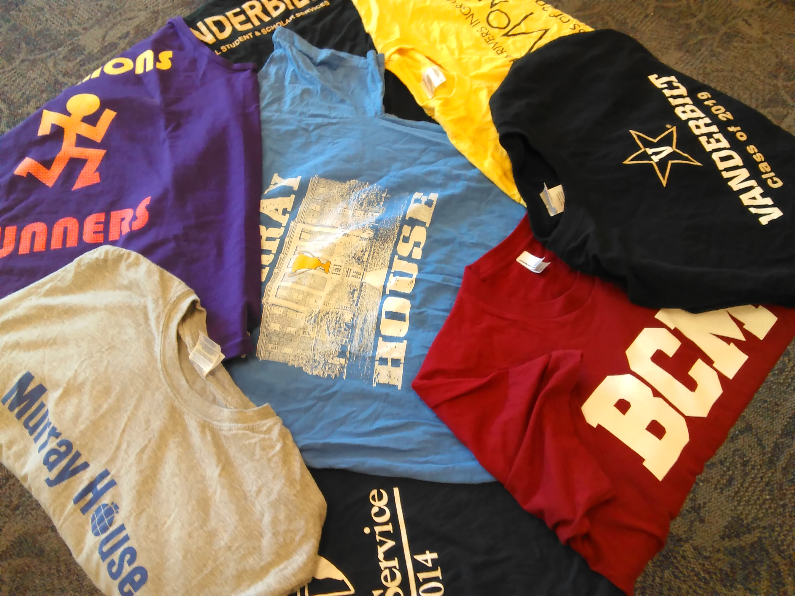 *Some* of the shirts I've gotten for free
