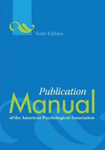 APA Manual Inside  Dores Vanderbilt University