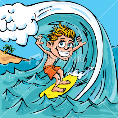 Kite Surfing Clipart