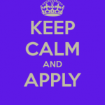 keep calm and apply
