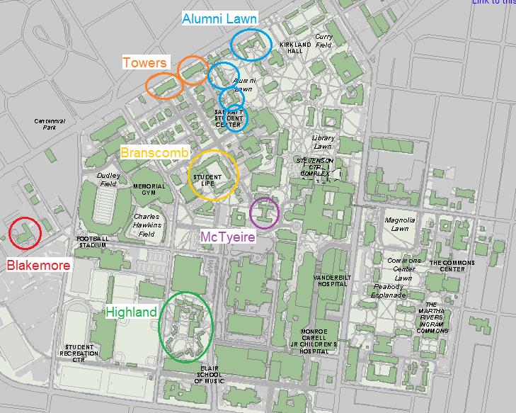 map | Inside \'Dores | Vanderbilt University