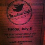 At the Bluebird.