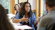 Vanderbilt students in class discussion.