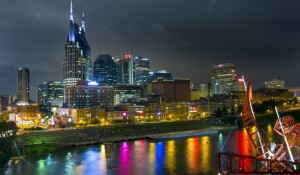 Downtown Nashville at night (Photo: Daniel Dubois, Vanderbilt University)
