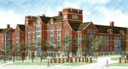Artistic rendering of College Halls, which are scheduled to open Fall 2014