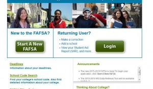 FAFSA Screen Shot