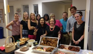 We're hot! OUA Staff with Hattie B's hot chicken!