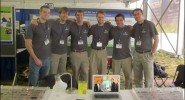 Senior design team members at a national expo in DC