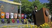 Chancellor Zeppos speaks at the 2012 commencement ceremony (Vanderbilt Flickr)