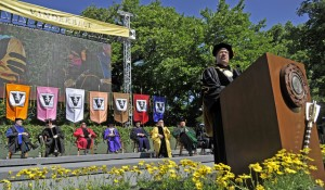 Chancellor Zeppos speaks at the 2012 commencement ceremony (Vanderbilt Flickr)