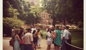 Prospective students and families prepare to set off on their campus tour (instagram.com/vanderbiltadmissions)