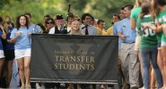 Transfer students participating in Founder's Walk. (Photo: Vanderbilt Creative Services)