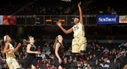 Freshman Morgan Batey scores in the Commodores' victory over the Missouri Tigers in February (vucommodores.com)