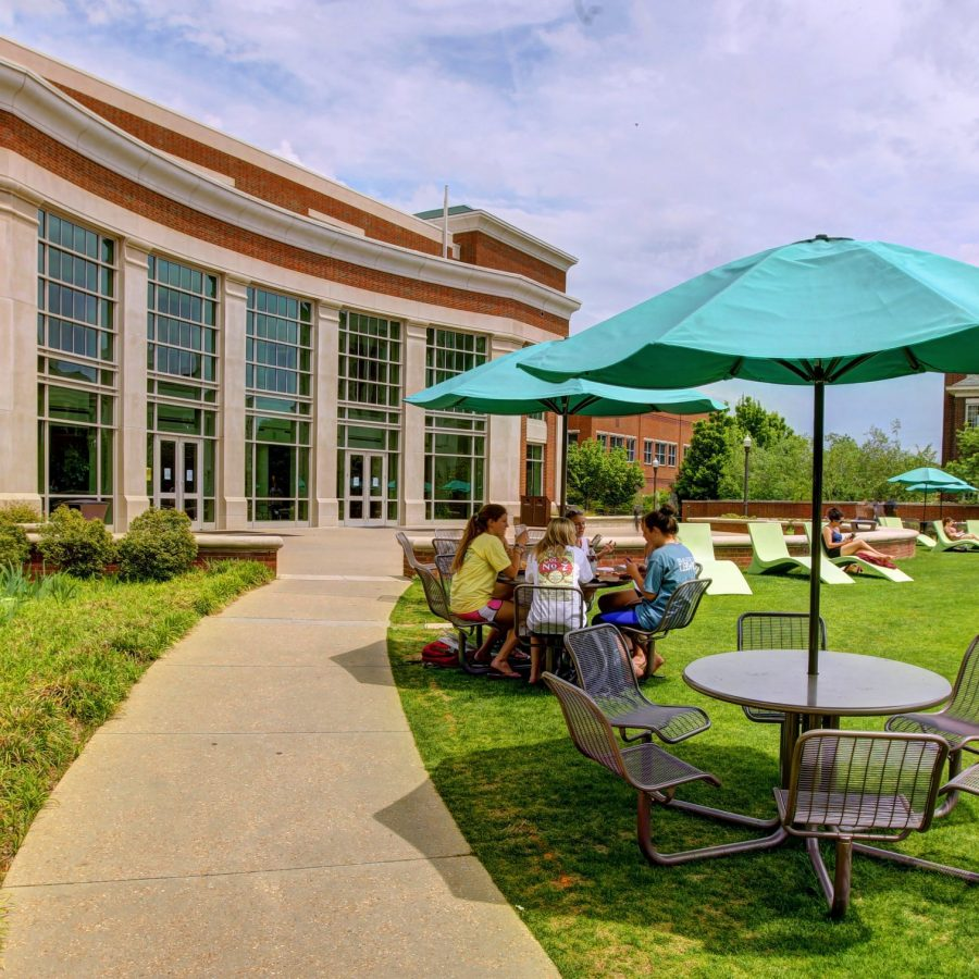 Patio area of The Martha Rivers Ingram Commons
