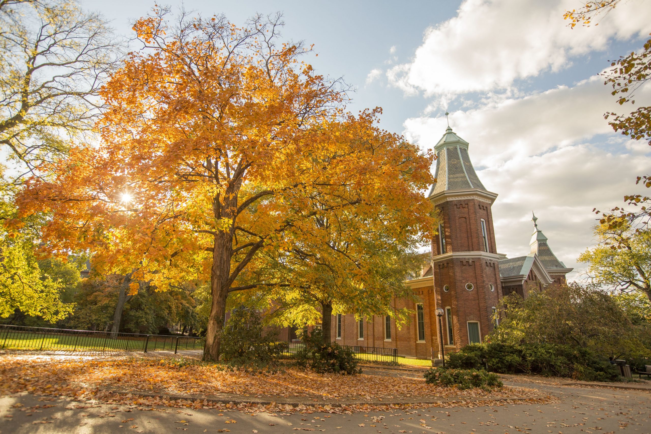 photo of the Old Gym in fall