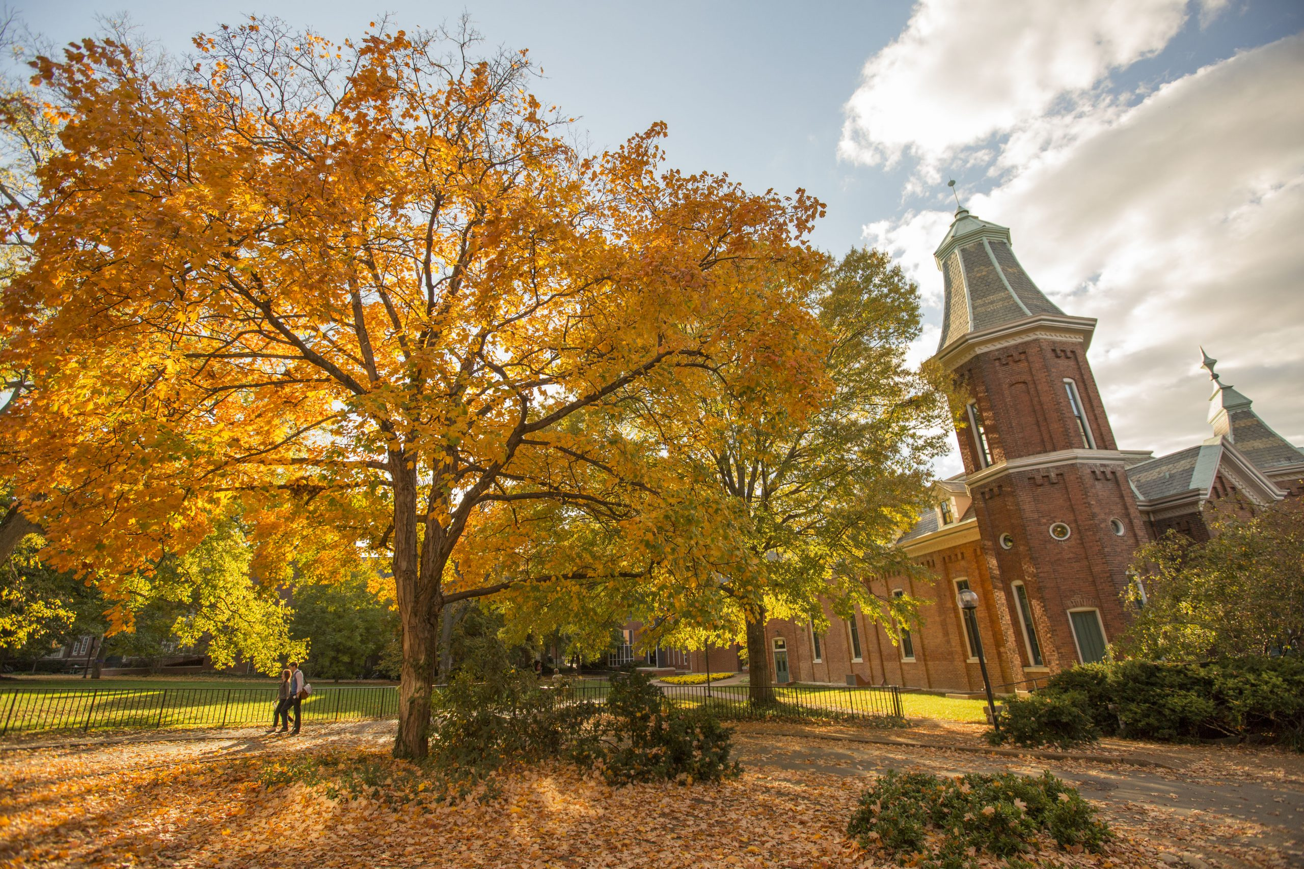 Image of Vanderbilt Campus and The Old Gym in fall