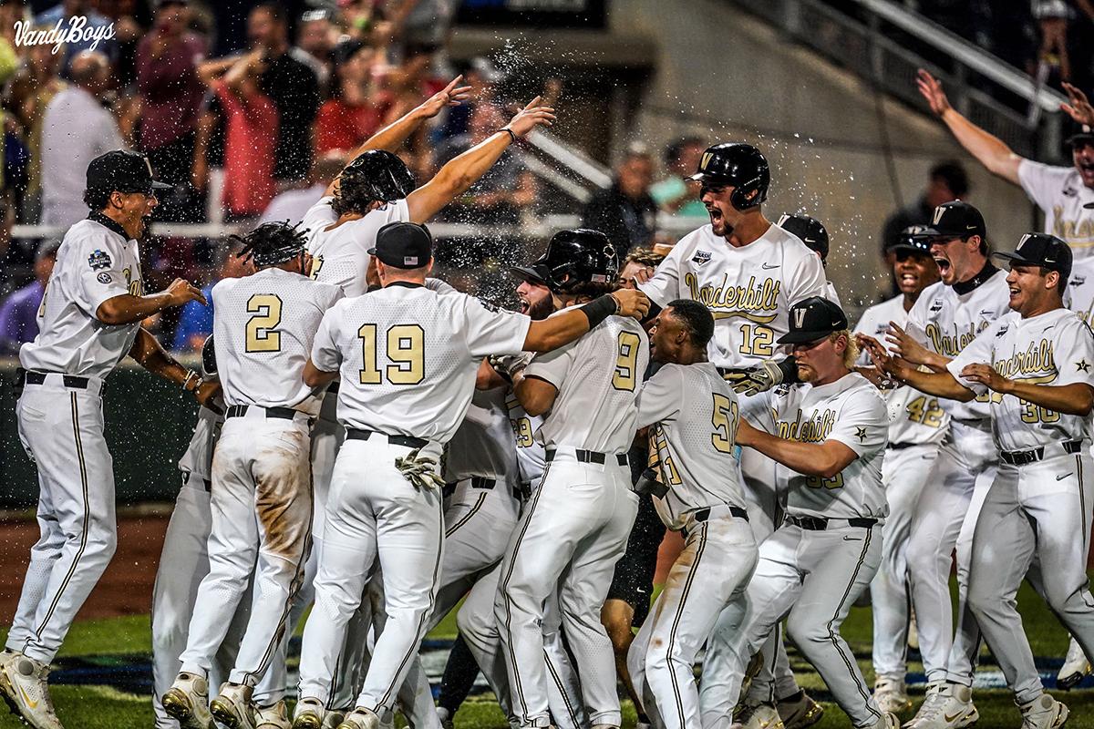 VU baseball team celebrates victory